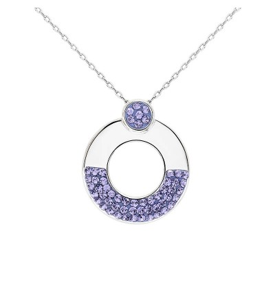 Stylish Circle Shape Pendant with Crystals from Swarovski®