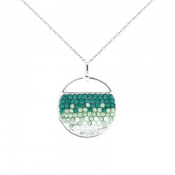 Intriguing Circular Fan Pendant with Crystals from Swarovski®