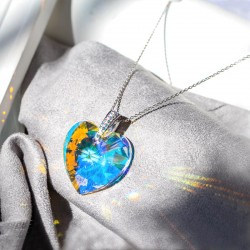 Heart Shape Pendant with Crystals from Swarovski®