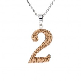 "Lucky No.""2""  Pendant with Crystals from Swarovski®"