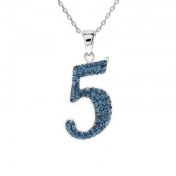 "Lucky No.""5""  Pendant with Crystals from Swarovski®"