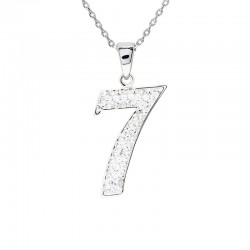 "Lucky No.""7""  Pendant with Crystals from Swarovski®"