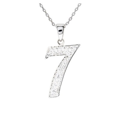 """Lucky No.""""7""""  Pendant with Crystals from Swarovski®"""