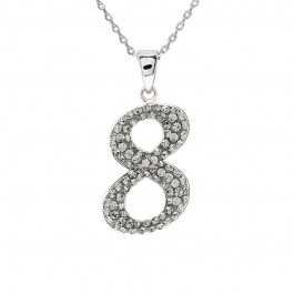 "Lucky No.""8""  Pendant with Crystals from Swarovski®"