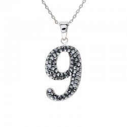 "Lucky No.""9""  Pendant with Crystals from Swarovski®"