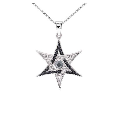 Star of David Pendant With Crystals From Swarovski®