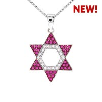 Hexagon Star Pendant With Crystals From Swarovski®