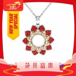 [Ang Ang!] Beautiful Flora Pattern Pendant with Crystals from Swarovski®