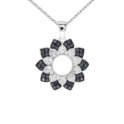 Beautiful Flora Pattern Pendant with Crystals from Swarovski®