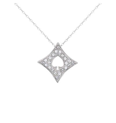 Cool Spade Plate Pendant with Crystals from Swarovski®