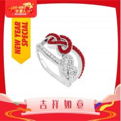 [Ang Ang!] Twin Knot Ring with Crystals from Swarovski®