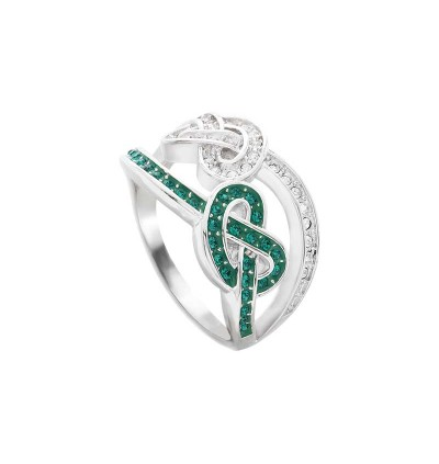 Twin Knot Ring with Crystals from Swarovski®